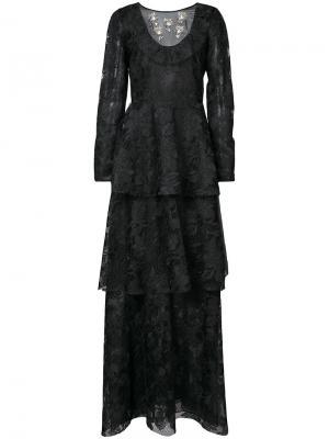 Вечернее платье Laxmi Sachin & Babi. Цвет: чёрный