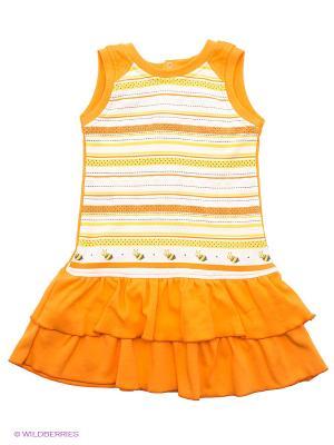 Сарафан FIM. Цвет: оранжевый, желтый, белый