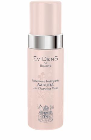 Очищающий мусс для сохранения молодости кожи Sakura EviDenS de Beaute. Цвет: бесцветный