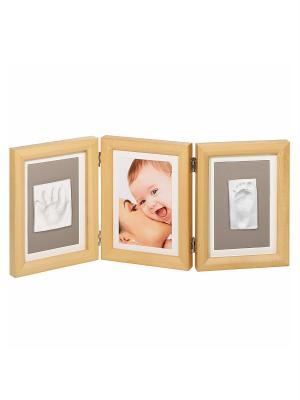 Рамочка тройная Baby Art. Цвет: бежевый