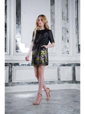 Платье Вестетика 61126/Черно-оливковый