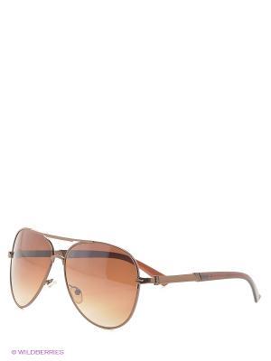 Очки солнцезащитные Kawaii Factory. Цвет: темно-коричневый, терракотовый