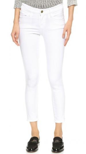 Укороченные джинсы скинни Le Color FRAME. Цвет: белый