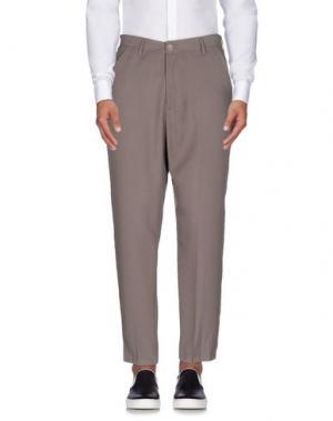 Повседневные брюки 26.7 TWENTYSIXSEVEN. Цвет: серый