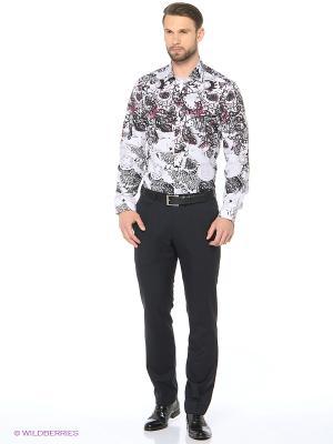 Рубашка KARFLORENS. Цвет: белый, бордовый