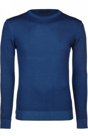 Вязаный пуловер Daniele Fiesoli. Цвет: синий