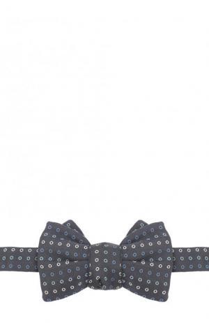 Шелковый галстук-бабочка Charvet. Цвет: темно-синий