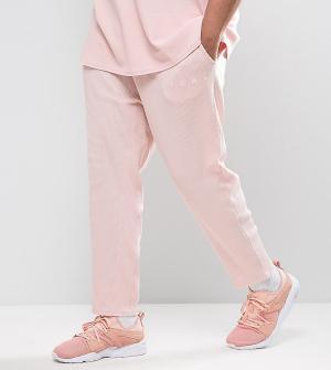 Puma Розовые джоггеры из вафельного трикотажа PLUS эксклюзивно для ASO. Цвет: розовый