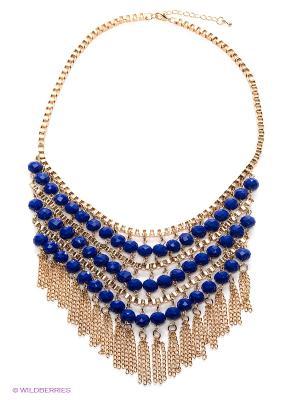 Колье Royal Diamond. Цвет: золотистый, синий