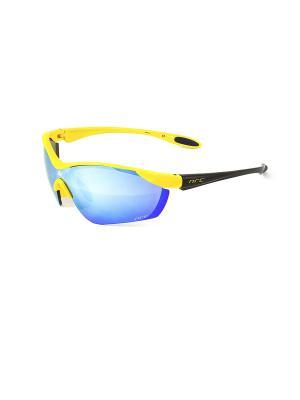 Солнцезащитные очки NRC. Цвет: желтый, черный