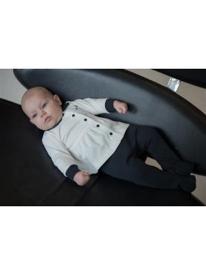 Кофточка детская Lucky Child. Цвет: темно-серый, молочный