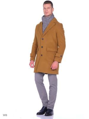 Пальто United Colors of Benetton. Цвет: серо-коричневый