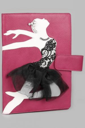 Обложка для ежедневника Maria Tomassini. Цвет: фуксия, белая балерина