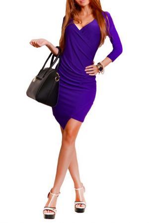 Платье FRANCESCA LUCINI. Цвет: фиолетовый