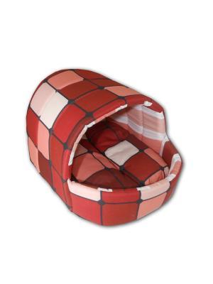 Лежак для животных Колыбелька SMART-TEXTILE. Цвет: коричневый