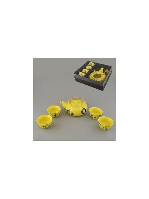 Набор чайный 5 пр. ЖЕЛТЫЙ SAGURO. Цвет: желтый