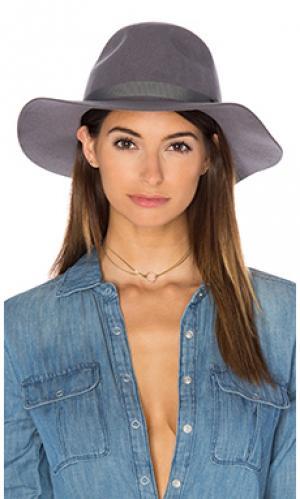Шляпа dalila Brixton. Цвет: серый
