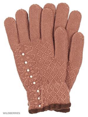 Перчатки Punta. Цвет: коричневый