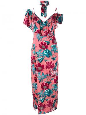 Платье Flamenco For Love And Lemons. Цвет: розовый и фиолетовый