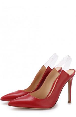 Кожаные туфли Eva на шпильке Gianvito Rossi. Цвет: красный