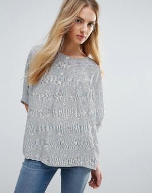MiH Jeans Шелковая блузка M.i.H Zodiac. Цвет: мульти