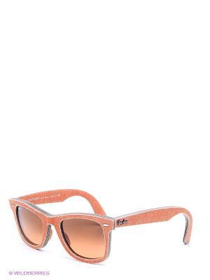 Очки солнцезащитные Ray Ban. Цвет: оранжевый, коричневый