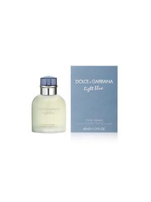 Туалетная вода Light Blue Pour Homme, 40 мл DOLCE & GABBANA. Цвет: прозрачный