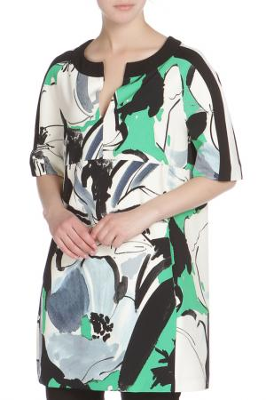 Туника Liviana Conti. Цвет: бело-черно-зеленый