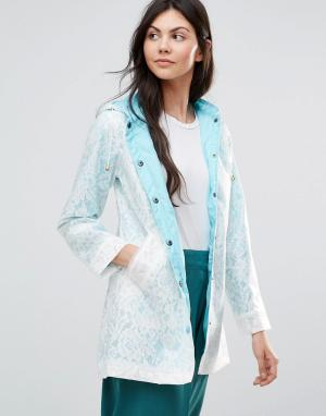 Yumi Кружевной макинтош. Цвет: синий
