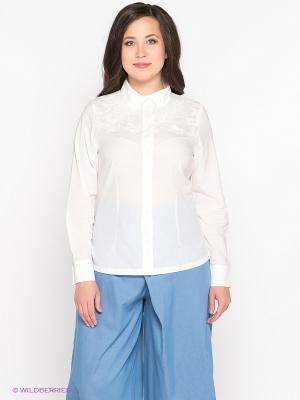 Блузка D`imma. Цвет: белый
