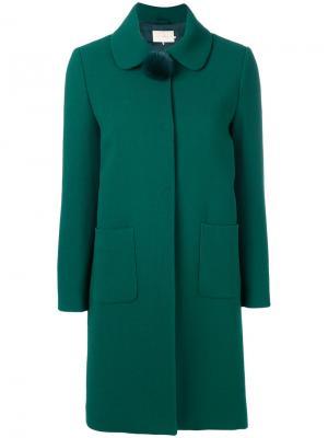 Пальто с помпоном на воротнике  LAutre Chose L'Autre. Цвет: зелёный
