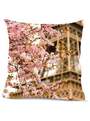 Готовая наволочка Париж Матренин Посад. Цвет: розовый, бежевый, белый