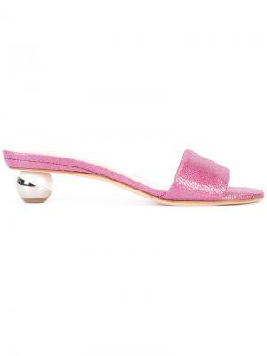 Сандалии на контрастном каблуке Alchimia Di Ballin. Цвет: розовый и фиолетовый