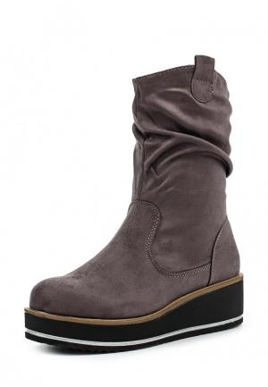 Полусапоги Ideal Shoes. Цвет: серый