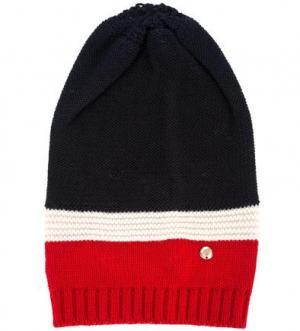 Вязаная шапка из шерсти и акрила ARMANI JEANS. Цвет: синий