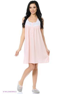 Ночная сорочка Eileen West. Цвет: персиковый