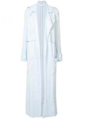 Однобортное пальто Sally Lapointe. Цвет: синий