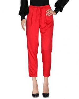 Повседневные брюки DONATELLA DE PAOLI. Цвет: красный