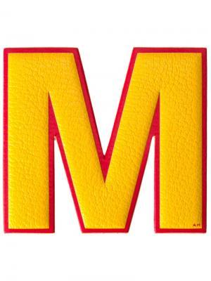 Стикер M Anya Hindmarch. Цвет: жёлтый и оранжевый