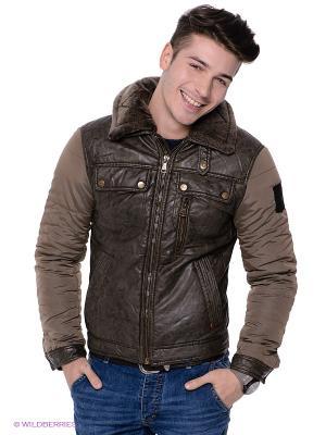 Куртка TOM FARR. Цвет: темно-коричневый, серо-зеленый