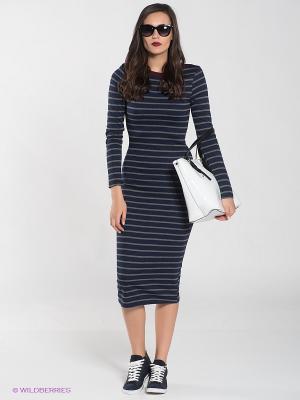 Платье BSB. Цвет: темно-синий, серый