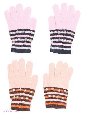 Перчатки FOMAS. Цвет: коралловый, розовый, черный, коричневый