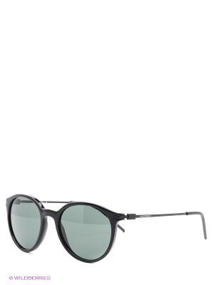 Очки солнцезащитные Emporio Armani. Цвет: антрацитовый, темно-серый