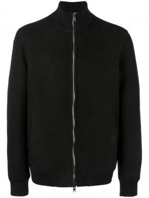 Куртка бомбер на молнии Salvatore Santoro. Цвет: чёрный
