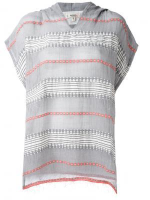 Блузка с вышивкой Lemlem. Цвет: серый
