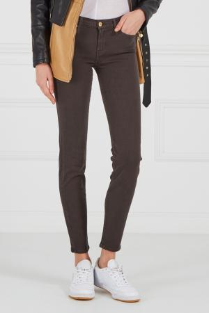 Зауженные серые джинсы 7 For All Mankind. Цвет: коричневый