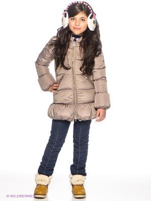 Пальто Bomboogie Kids. Цвет: бежевый