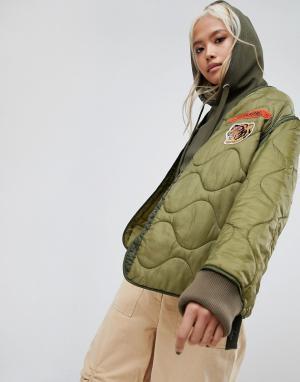 Maharishi Куртка Upcycled. Цвет: зеленый