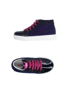 Высокие кеды и кроссовки FALCOTTO. Цвет: темно-синий