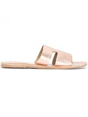 Сандалии Aperos Ancient Greek Sandals. Цвет: металлический